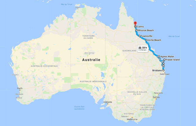 Road trip Brisbane Cairns